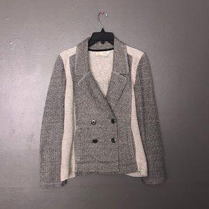 Saturday Sunday anthropology knit blazer size s